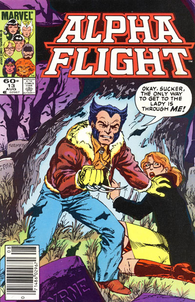 Wolverine Covers: Alpha Flight #13