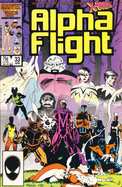 Alpha Flight #33 cover