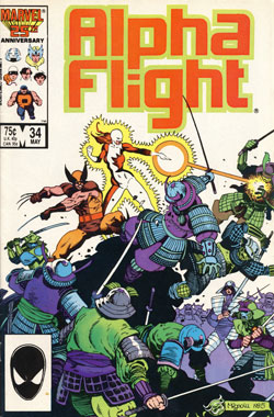 Alpha Flight #34 cover