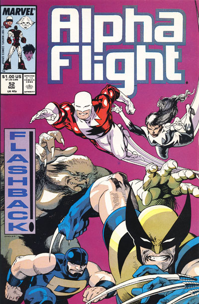 Wolverine Covers: Alpha Flight #52