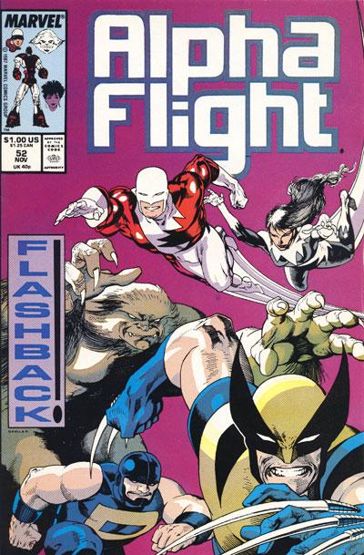 Wolverine Covers: Alpha Flight #52