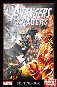 Avengers/Invaders Sketchbook cover