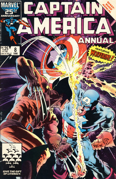 Wolverine Covers: Captain America Annual #8