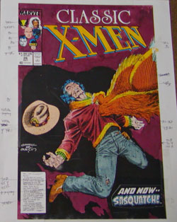 Color guide for Classic X-Men #26