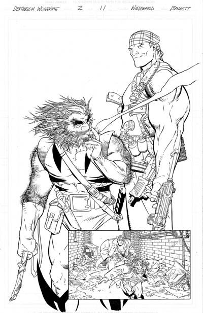 Deathblow and Wolverine #2 original splash
