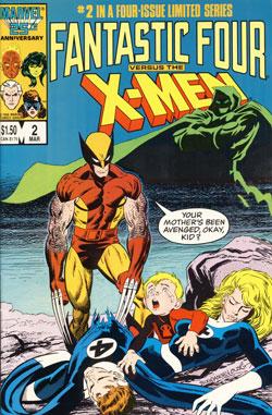 Wolverine Covers: Fantastic Four vs. X-Men #2