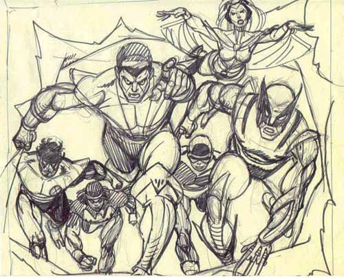 Giant-Size X-Men #1 pencils