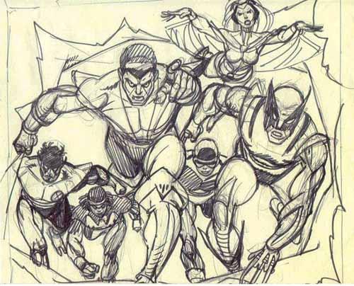 Giant-Size X-Men #1 pencils