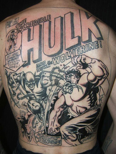 Hulk tattoo cover. Our first cover is an homage from Wild Thing #0 by Ron