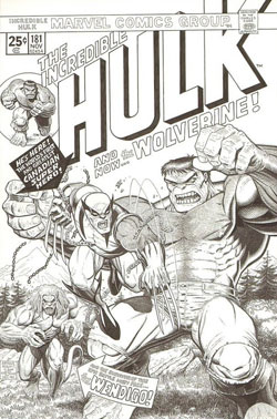 Incredible Hulk #181 cover by Arthur Adams