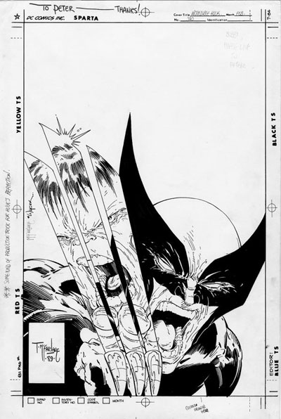 Wolverine Covers: Incredible Hulk #340 original artwork /