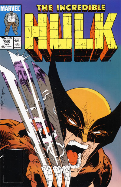 Wolverine Covers: Incredible Hulk #340