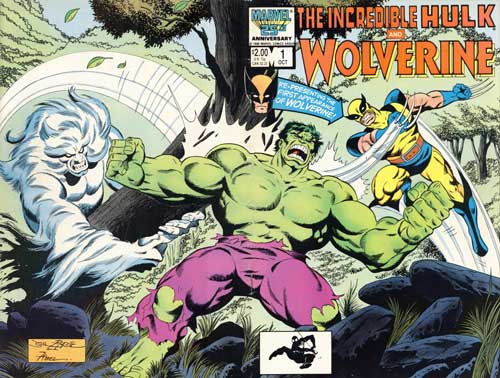Incredible Hulk and Wolverine cover