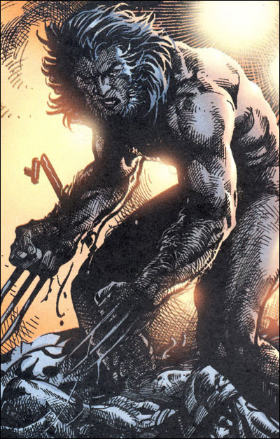 Logan escaping from Weapon X