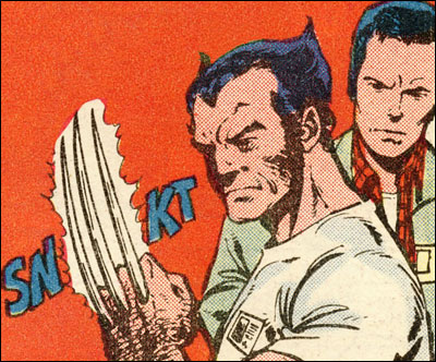 Logan pops claws for James Hudsons
