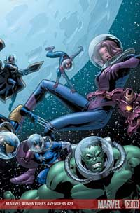 Marvel Adventures the Avengers #23 cover
