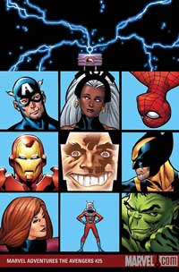Marvel Adventures the Avengers #25 cover