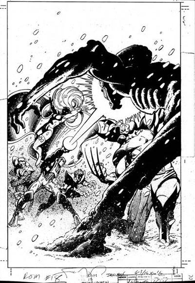 Wolverine Covers ROM #18 original artwork