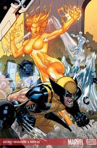 Secret Invasion: X-Men #4 cover