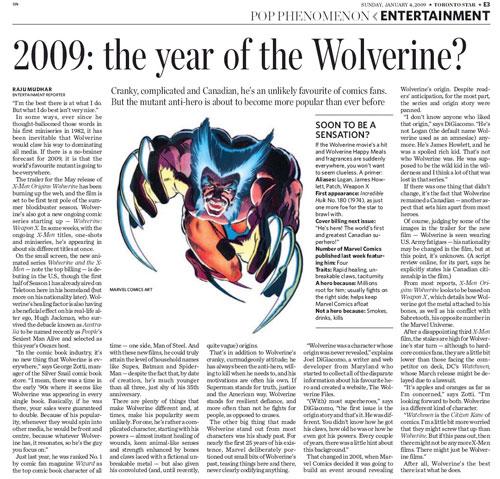 Toronto Star Wolverine article