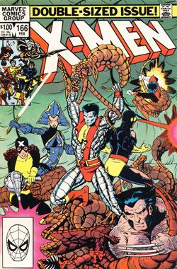 Uncanny X-Men #166 cover