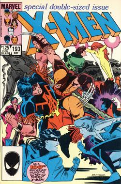Uncanny X-Men #193 cover