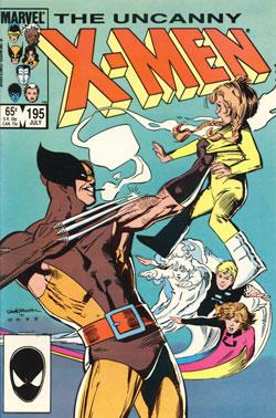 Uncanny X-Men #195 cover