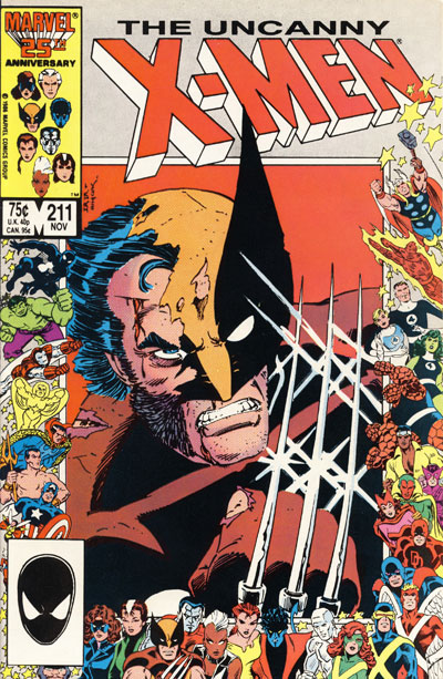 Wolverine Covers: Uncanny X-Men #211