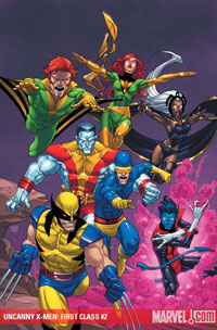 Uncanny X-Men: First Class #2 cover