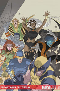 Uncanny X-Men: First Class #4 cover
