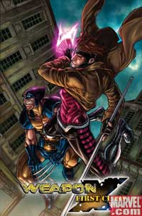 Weapon X: First Class #1 Gambit cover