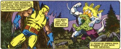 Wolverine, the Hulk and Wendigo