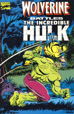 Wolverine Battles the Incredible Hulk cover