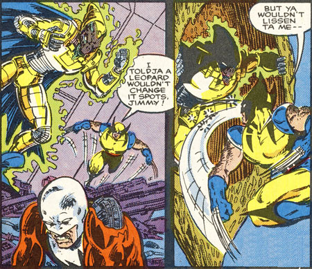 Wolverine fighting Bedlam