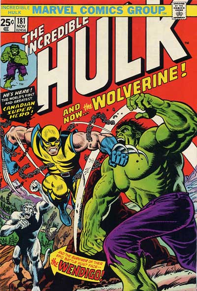 Wolverine Cover: Incredible Hulk #181