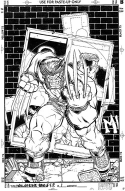 Wolverine: Days of Future Past #1 cover original artwork
