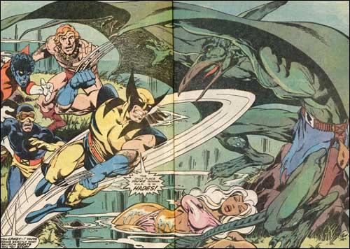 Wolverine fights Sauron