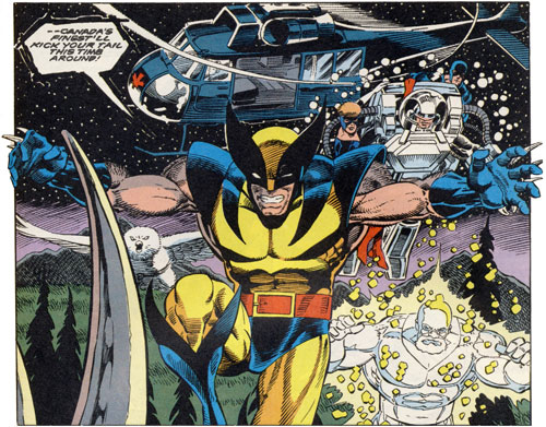 Wolverine and the Flight