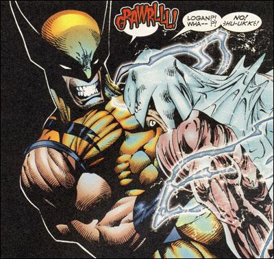 Wolverine gutting Vindicator