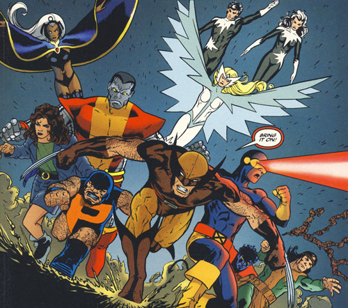 X-Men/Alpha Flight panel by John Cassaday