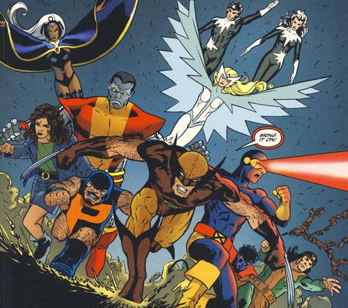 X-Men/Alpha Flight panel by John Cassaday