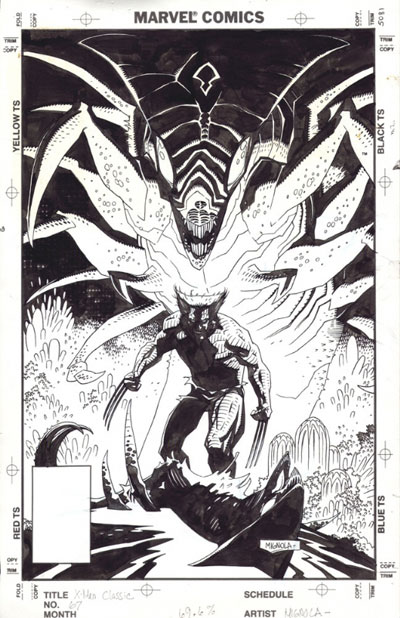 X-Men Classic #67 original cover art