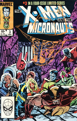 X-Men vs. Micronauts #3 cover
