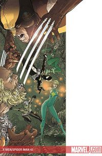 X-Men and Spider-Man #2 cover