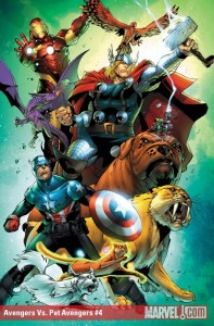 Avengers vs. Pet Avengers #4 cover