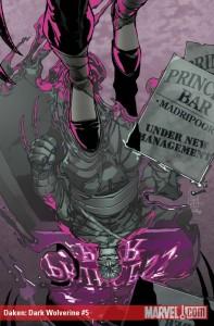 Daken Dark Wolverine #5 cover