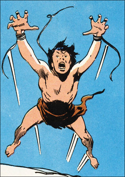 Wolverine as a child, originally