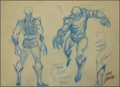 Original Wolverine sketch by John Romita