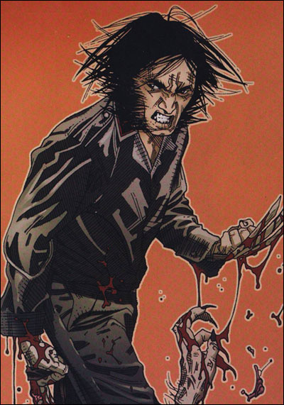 Logan fights a werewolf during WWII